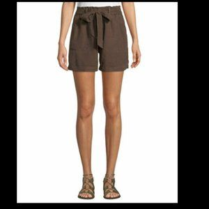 Sanctuary Women's Brown Tie Waist Linen Shorts NWT
